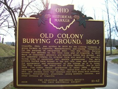 Old Colony Burying Ground, Side 1 image. Click for full size.