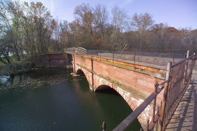 The Seneca Aqueduct at the Mouth of Seneca Creek image. Click for full size.