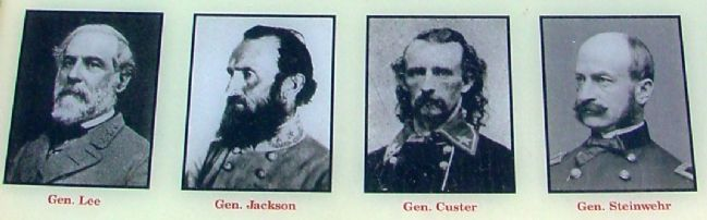 Close Up of Portraits of Generals from Marker image. Click for full size.