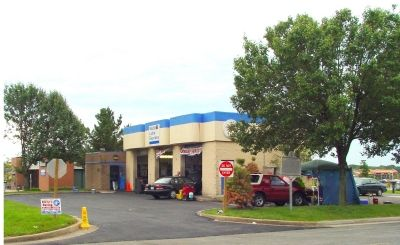 Marker (Under Tree) at Mobil Lube Express image. Click for full size.