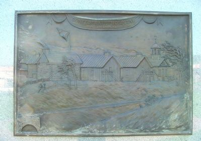 Brass Tablet Illustration Affixed to the Marker image. Click for full size.