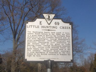 Little Hunting Creek Marker image. Click for full size.