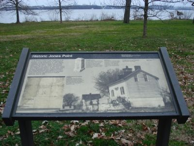 Historic Jones Point Marker image. Click for full size.