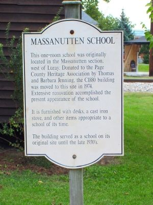 Massanutten School Marker image. Click for full size.