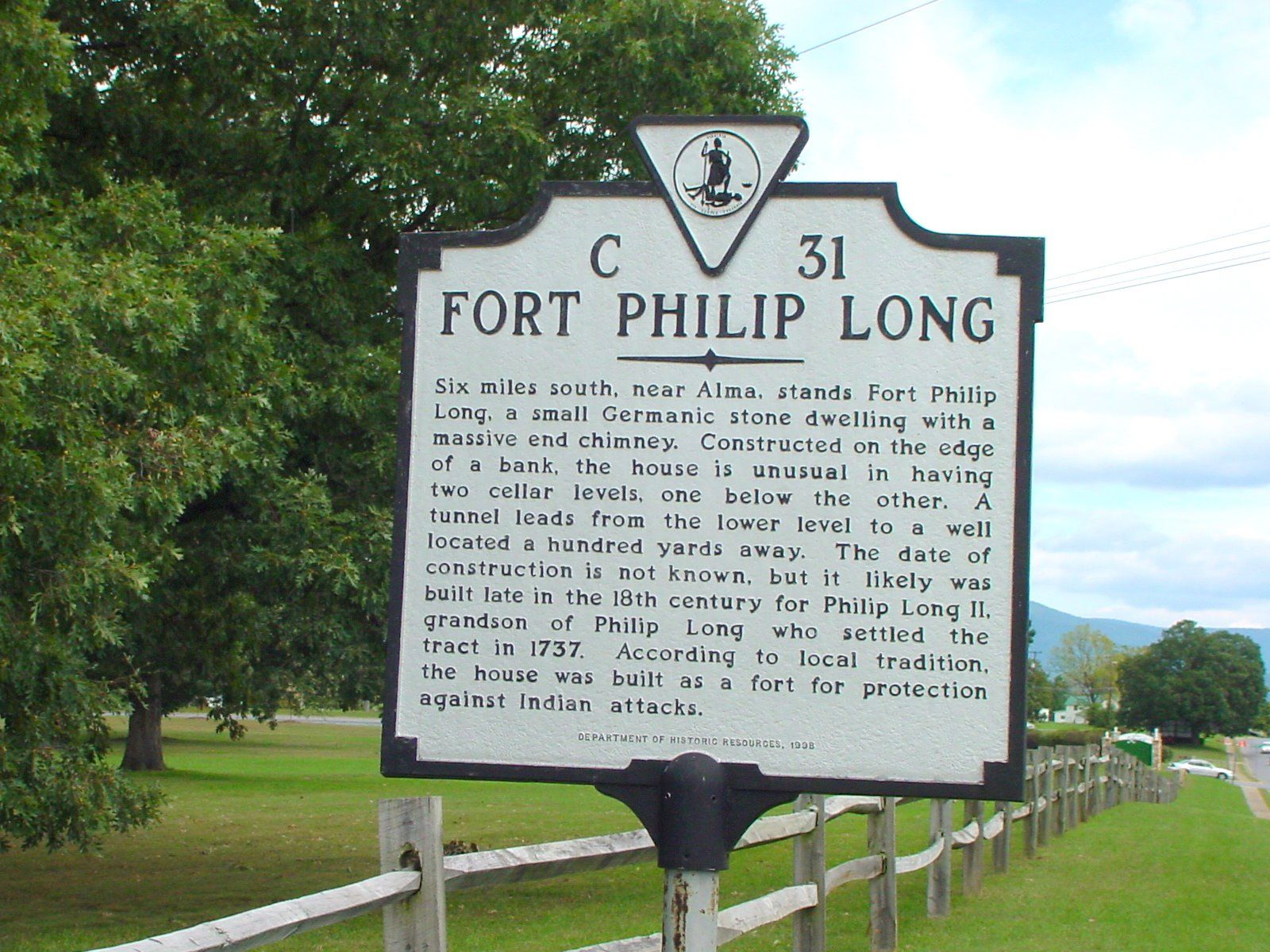 Fort Philip Long Marker