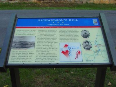Richardson's Hill Marker image. Click for full size.