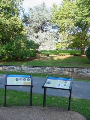 Two Markers In Front of Richardson's Hill image. Click for full size.