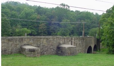 Two-Arch Bridge Crosses Creek image. Click for full size.