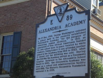 Alexandria Academy Marker image. Click for full size.