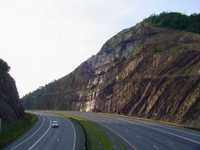 Interstate 68 Sideling Hill Cut image. Click for full size.