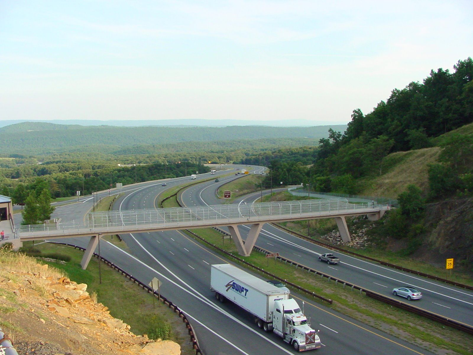 Eastern Approach to the Sideling Hill Cut