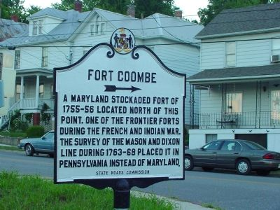 Fort Coombe Marker image. Click for full size.
