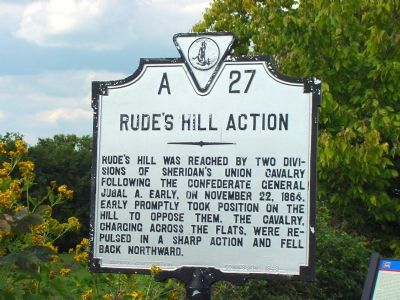 Rude's Hill Action Marker image. Click for full size.