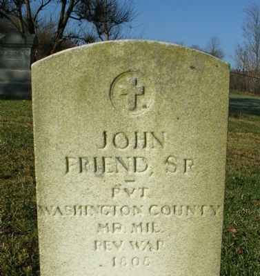 John Friend, Sr, Pvt, Washington County, MD, Mil. Rev. War, 1808 image. Click for full size.