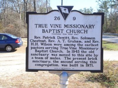 True Vine Missionary Baptist Church Marker image. Click for full size.