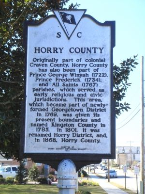 The Horry County Side of Marker image. Click for full size.