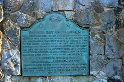 Bodega Bay and Harbor Marker image. Click for full size.