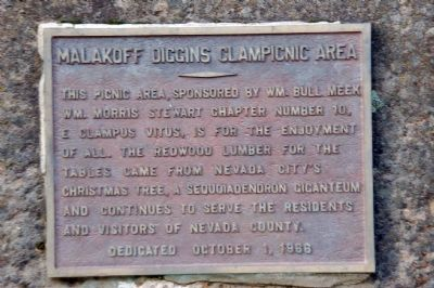 Malakoff Diggins Clampicnic Area Marker image. Click for full size.