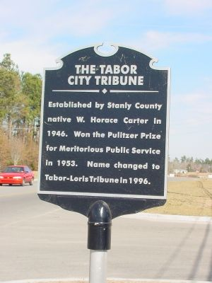 The Tabor City Tribune Marker image. Click for full size.