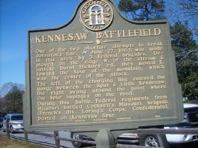 Kennesaw Battlefield Marker image. Click for full size.