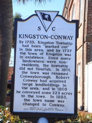 Kingston-Conway Marker Facing Main Street image. Click for full size.