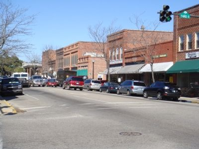 A Block of Main Street in Downtown Conway image. Click for full size.