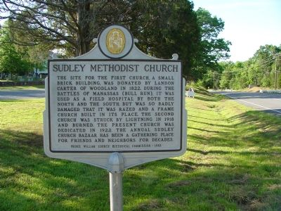Sudley Methodist Church Marker image. Click for full size.