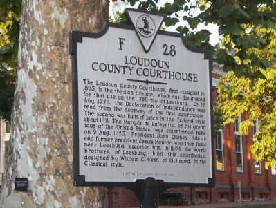 Loudoun County Courthouse Marker image. Click for full size.