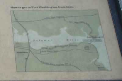 Directions to Fort Washington from this Marker. image. Click for full size.