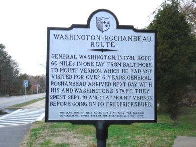 Washington-Rochambeau Route Marker image. Click for full size.