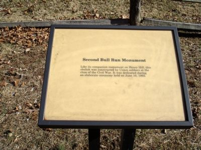 Second Bull Run Monument Marker image. Click for full size.