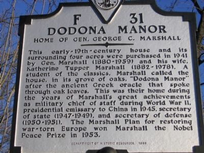Home of Gen. George C. Marshall image. Click for full size.