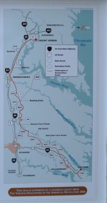 The Washington-Rochambeau Route in Virginia image. Click for full size.