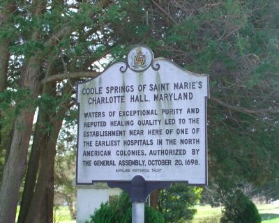 Coole Springs of Saint Marie's Marker image. Click for full size.