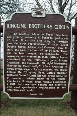 Ringling Brothers Circus Marker image. Click for full size.