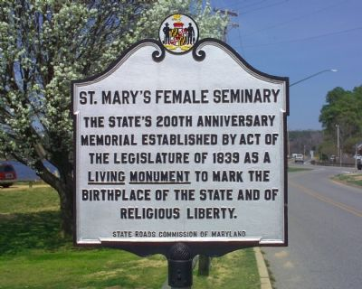 St. Mary's Female Seminary Marker image. Click for full size.