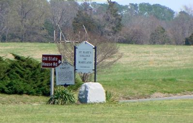 St. Mary's City and Leonard Calvert Markers image. Click for full size.