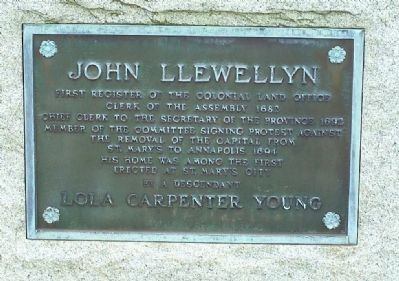 John Llewellyn Marker image. Click for full size.