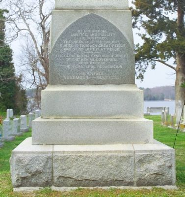 Leonard Calvert Monument, South Side image. Click for full size.