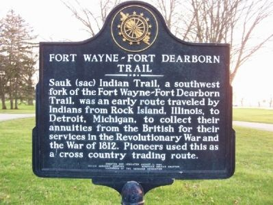 Fort Wayne-Fort Dearborn Trail Marker image. Click for full size.