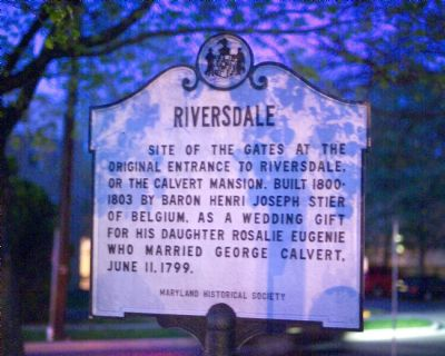 Riversdale Marker image. Click for full size.