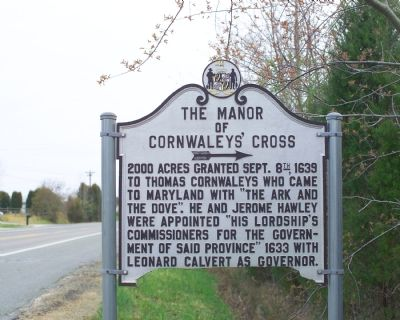 The Manor of Cornwaleys' Cross Marker image. Click for full size.