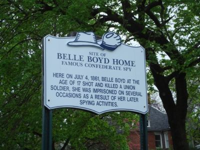 Site of Belle Boyd Home Marker image. Click for full size.