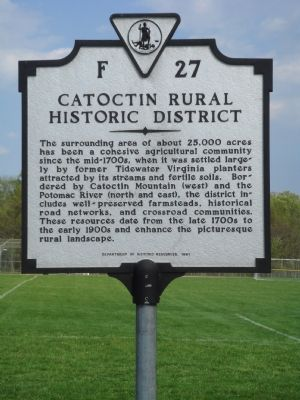 Catoctin Rural Historic District Marker image. Click for full size.