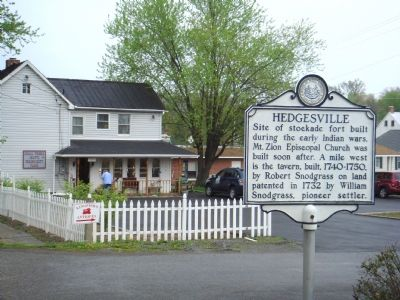 Hedgesville Marker image. Click for full size.