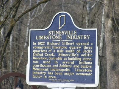 Stinesville Limestone Industry Marker image. Click for full size.
