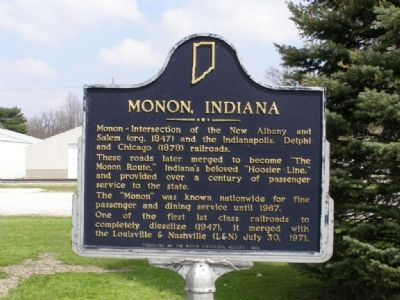 Monon, Indiana, Marker image. Click for full size.