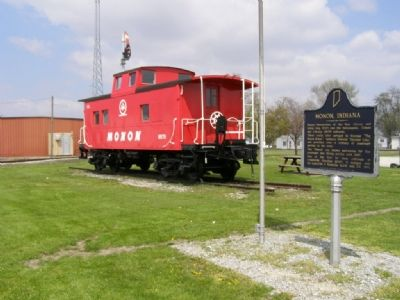 Monon Caboose and Marker image. Click for full size.
