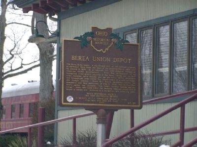 Berea Union Depot Marker image. Click for full size.