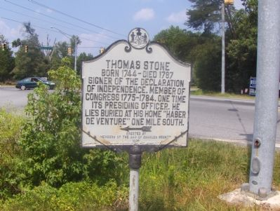 Thomas Stone Marker image. Click for full size.